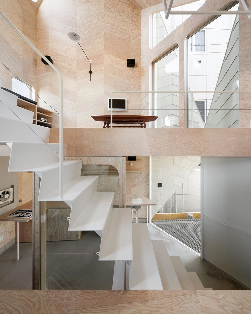 Tsubomi House (Tokyo Bud House) designed by Japan-based architectural studio FLAT HOUSE