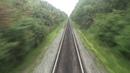 Вид из последнего вагона поезда Часть 2 Орловская область
