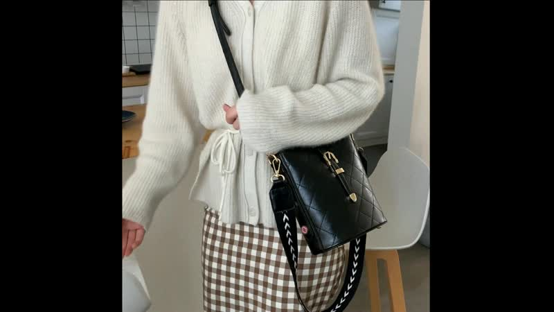 Winter striped ladies shoulder bag quality PU women's Messenger bag brand female handbag large capacity new discount bags