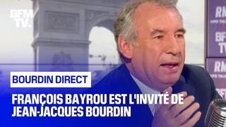 François Bayrou face à Jean-Jacques Bourdin en direct