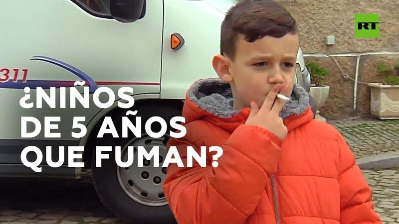 Animan a fumar a niños de 5 años en fiesta de Portugal