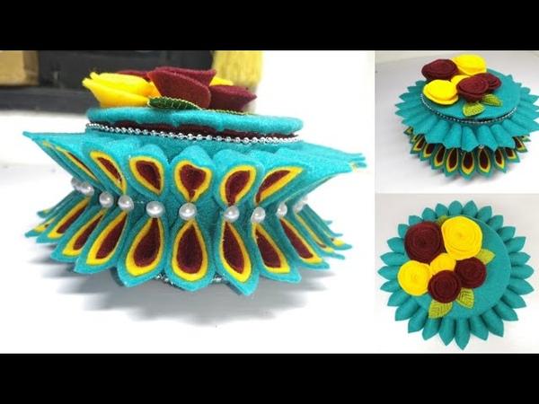 90) Cara membuat tempat permen model terbaru dari kardus || candy bunga || ideas flower basket
