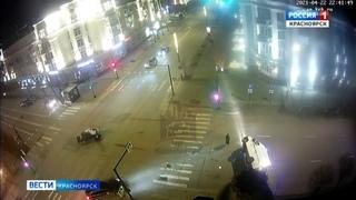 В центре Красноярска произошло ДТП с машиной скорой помощи