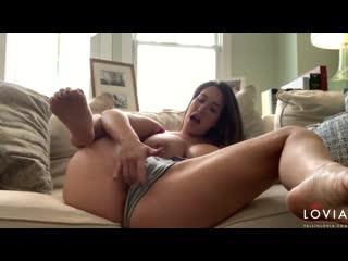 Eva Lovia - FallInLovia: Young MILF masturbate Quickie In The Living Room (2020) [Solo, Coronavirus, Covid-19, big tits, pregn]