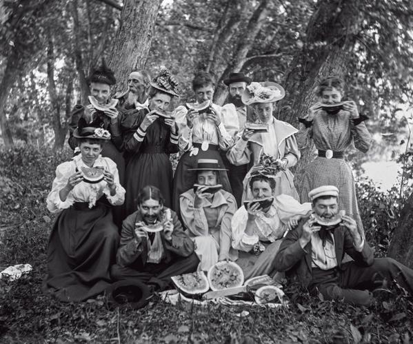 Арбузная вечеринка. Штат Мэн, США, 1894 год.