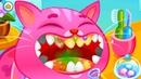 КОТИК БУБУ и Кошка Катя в САЛОНЕ КРАСОТЫ 126 Кид чистит и лечит зубы котам. Мультик на пурумчата