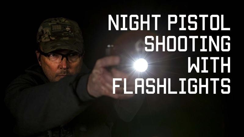 Night shooting with Flashlights Tactical Rifleman