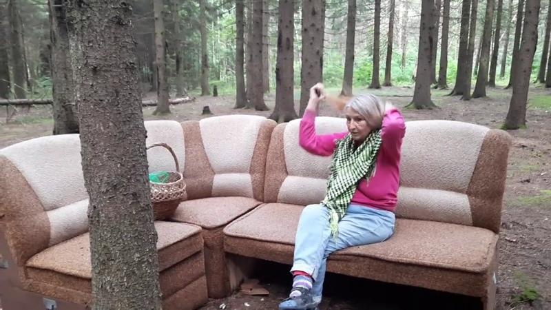 Аномальная зона нашем лесу Рядом с грибами вырос диван Мистика зоны Здесь мы нашли много грибов