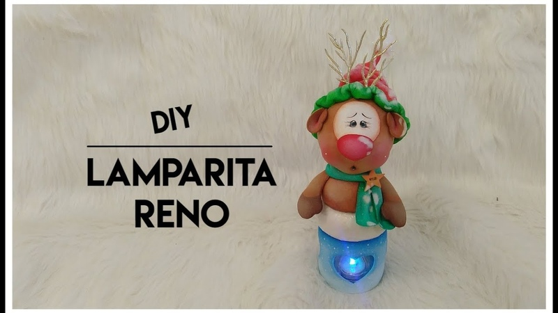Diy Lamparita Reno by Gemas foamy