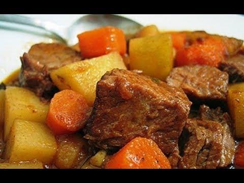 Картошка с мясом тушенная