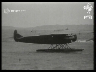 Amelia Earhart's plane 'Friendship' arrives in Bury Point, Wales, after cross-Atlantic flight (1928)