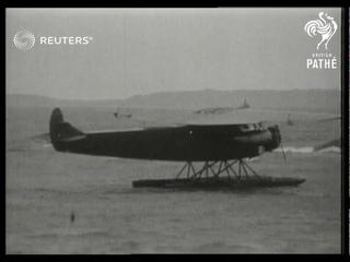 Amelia Earhart's plane 'Friendship' arrives in Bury Point, Wales, after cross-Atlantic flight (1928)