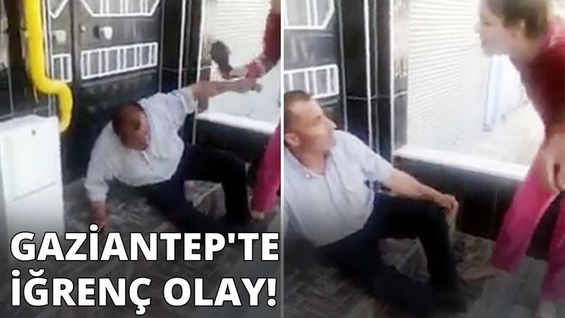 Gaziantepte iğrenç olay! Taciz şüphelisini terlikle dövüp, polise teslim ettiler