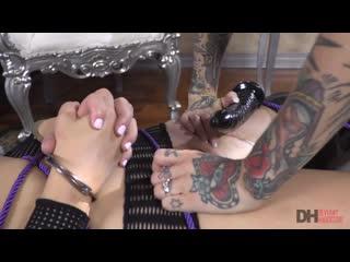 Tattooed Joanna Angel Dominates Blonde Babe Brett Rossi  DeviantHardcore Lesbian BDSM Big Tits Vibtator Brazzers Porn Порно