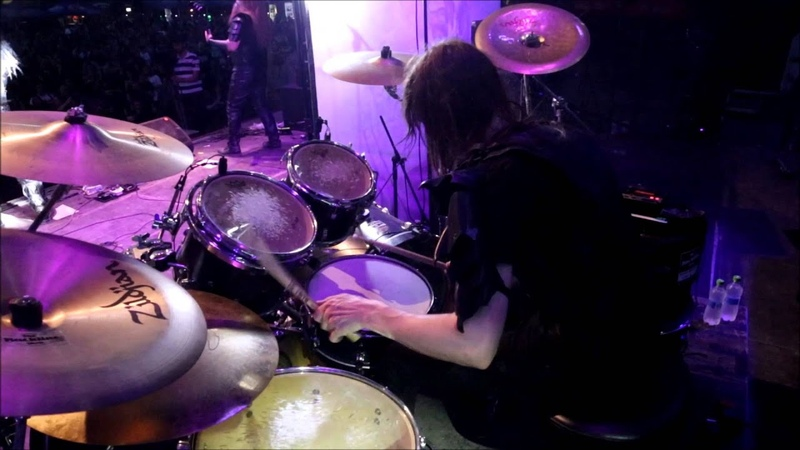 Nils Dominator Fjellström Dark Funeral Vobiscum Satanas Drumcam
