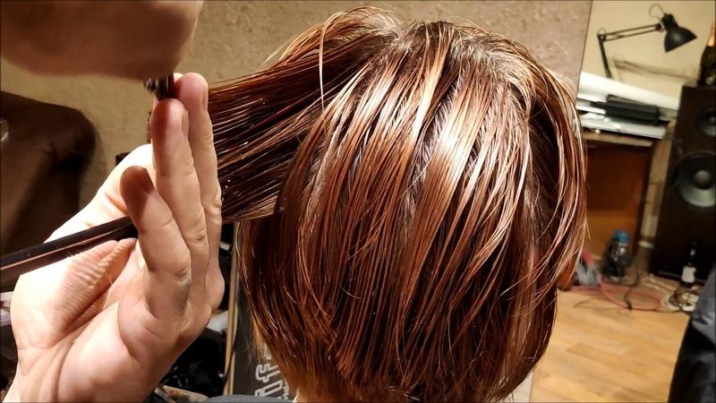 Женская короткая стрижка. women haircut. bob