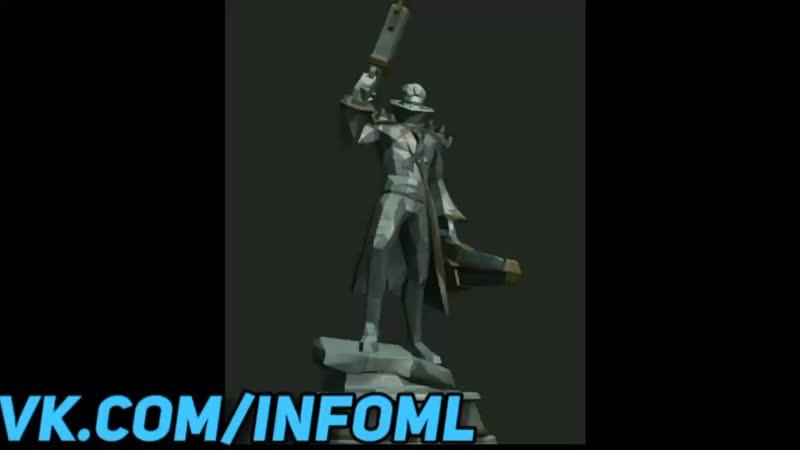 Моделька статуи Грейнджера