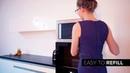 Современный дизайн кухни с автоматическим камином Planika. Биокамин