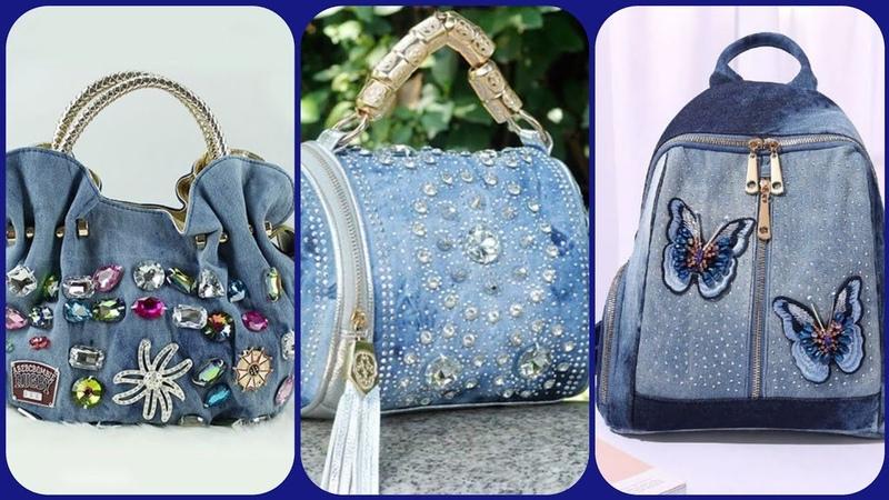 Denim handbag latest stylish beautiful collection