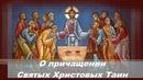 О причащении Святых Христовых Таин