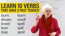 English Grammar Spelling VERBS with 2 PAST TENSES