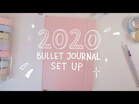 My 2020 bullet journal set up