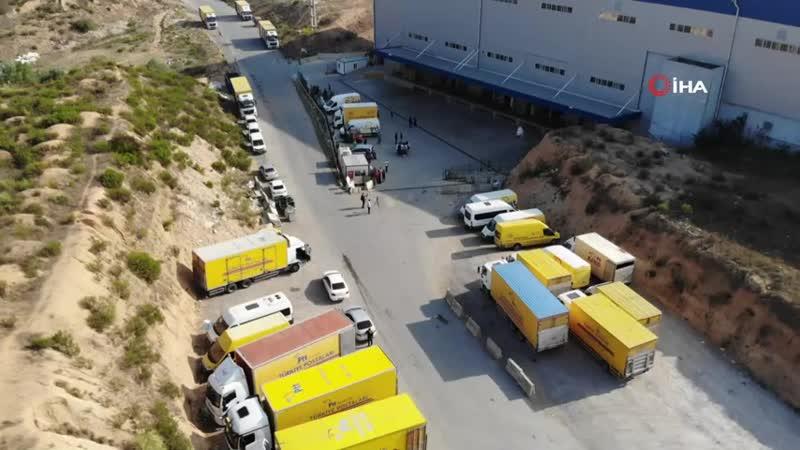 Anadolu Yakası Posta Dağıtım Merkezinde Toz Paniği.mp4