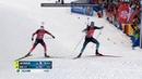 Финиш гонки преследования Йоханнес против Жаклина Логинов 3 Чемпионат мира 2020 Антхольц