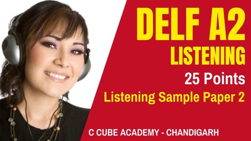 DELF A2 Comprehension Orale DELF A2 Listening Test Practice Online Sample Paper 2