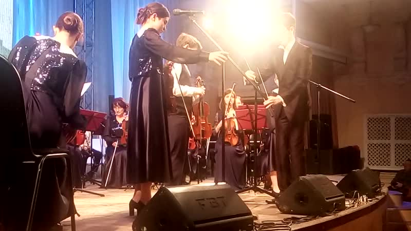 Рутгер Юлия и Адель на юбилейном концерте посвященному 100 летию музыкальной школы