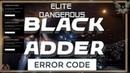 Elite Dangerous Fleet Carriers Error Code Black ADDER