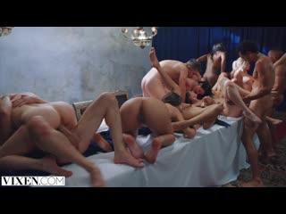 Групповая оргия с участием Tori Black,Angela White,Mia Malkova,Abella Danger(секс, порно, 18+, трах, вагина, сперма,, анал)