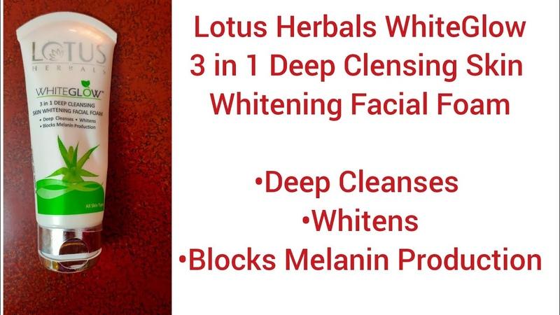 Lotus Herbals WhiteGlow 3 in 1 Cleansing Skin Whitening Facial Foam Review