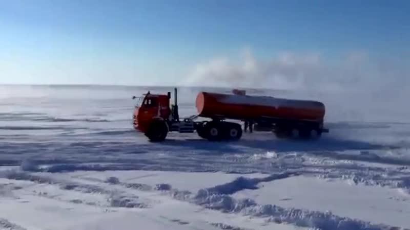 2016 Видеоклип Ямальская дорога полуостров Ямал март 2016 года
