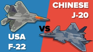 US Air Force F-22 vs China's J-20 Fighter Jet - Which Would Win? Military Unit Comparison