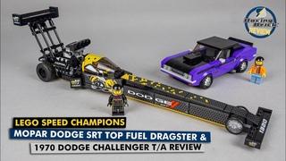 LEGO Speed Champions 76904 Mopar Dodge SRT Top Fuel Dragster & 1970 Dodge Challenger T/A review