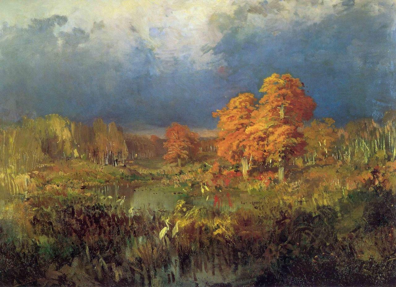 """Фёдор Александрович Васильев """"Болото в лесу. Осень"""", 1870-е"""
