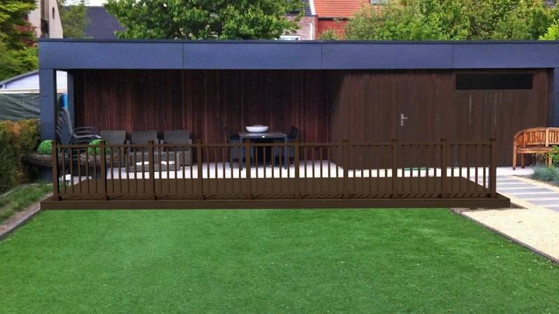 Ограждение Holzhof из ДПК. Монтаж ограждения для террас из ДПК с фактурой дерева.