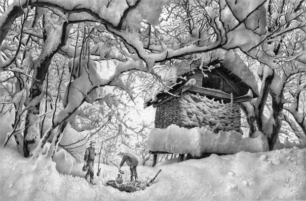 Художники. Гурам Доленджашвили и его картины простым карандашом