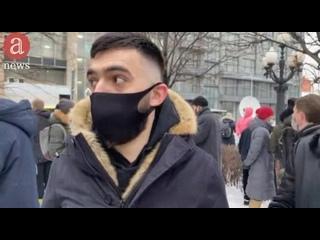 Журналисты Anews успели взять небольшое интервью с Сайд-Мухамадом Джумаевым на акции 23 января