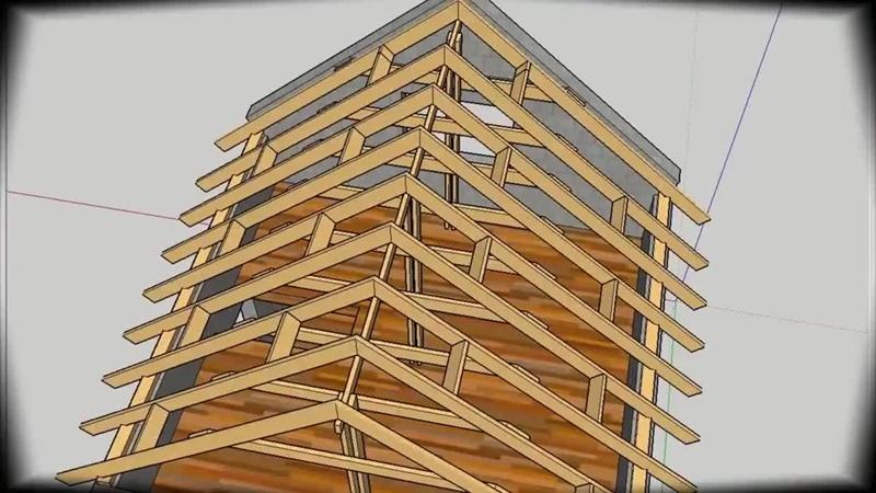 План строительства двускатной крыши Строительные хитрости