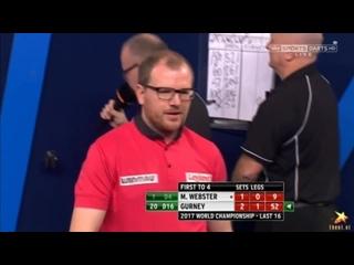 Mark Webster vs Daryl Gurney (PDC World Darts Championship 2017 / Round 3)