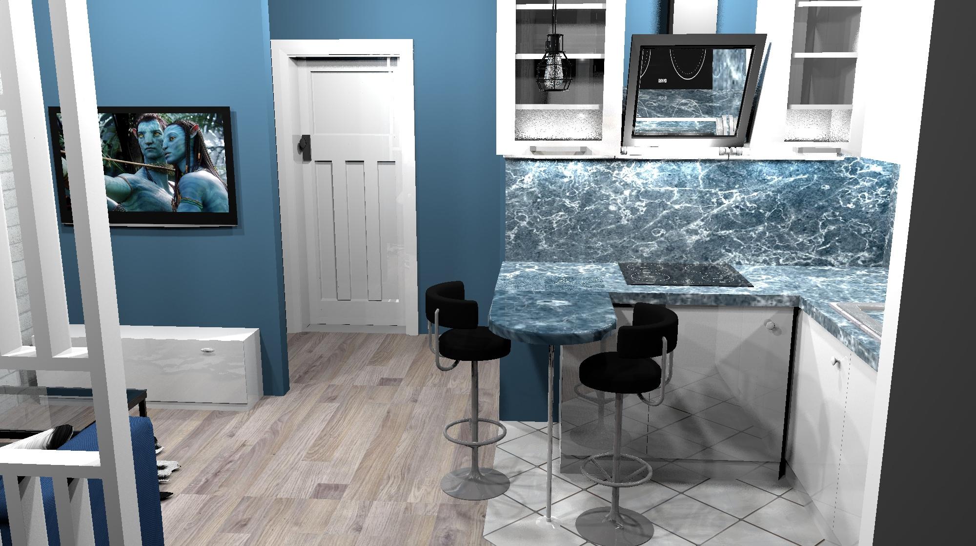 Проект квартиры-студии 25 кв/м.