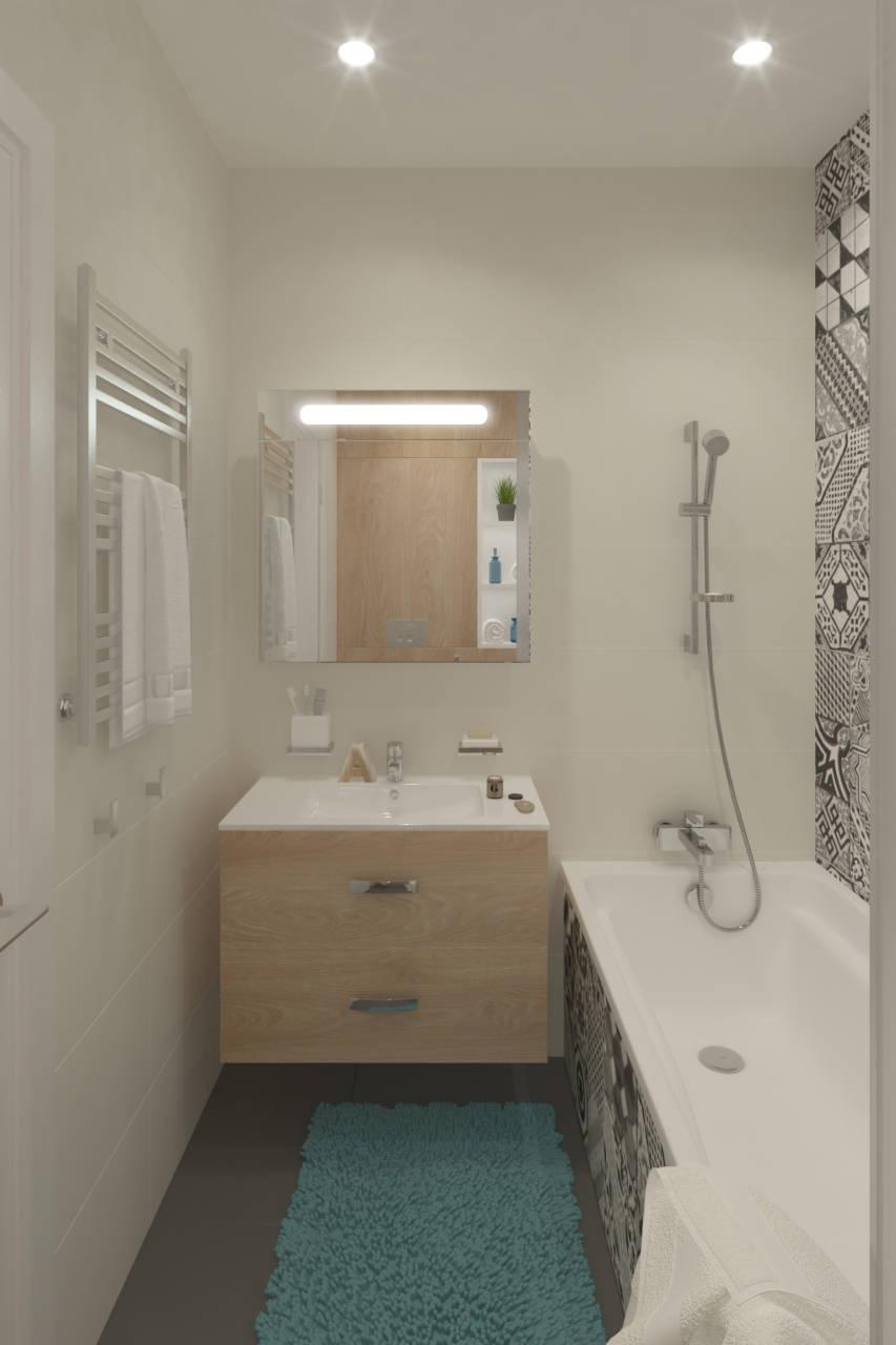 Дизайн-проект квартиры 30 м с присоединенной лоджией.