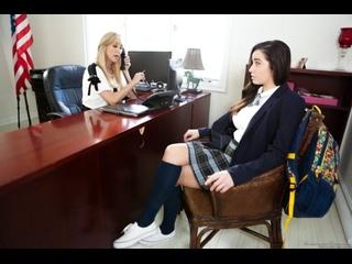Brandi Love Karlee Grey lesbian milf mature teacher teen school pussy tits ass перевод субтитры 1080 лесби