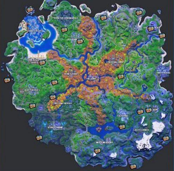 местоположение сундуков Fortnite