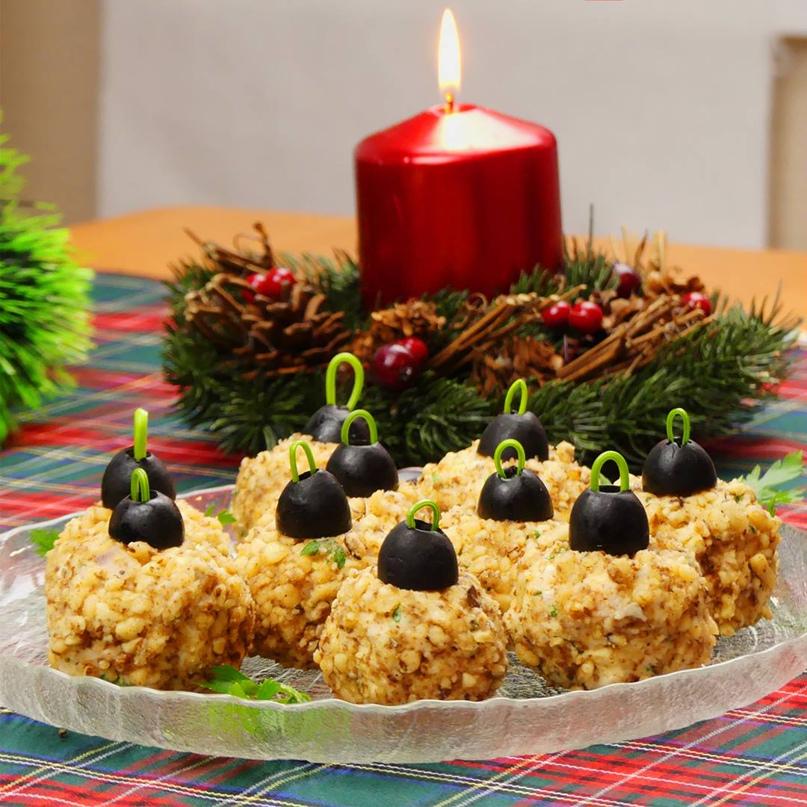 Новогодняя закуска «Елочные шарики» ) 2 рецепта и варианты подачи.