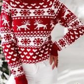Свитер женский рождественский
