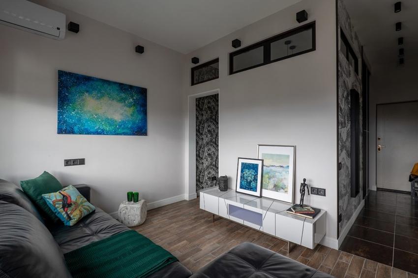 Интерьер квартиры 38 м в Москве.