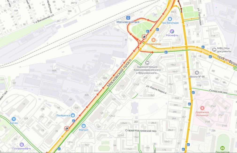Центр Ярославля встал в пробки: где именно